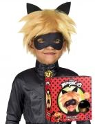 Cat Noir™-Perücke und Maske für Kinder Miraculous™ Accessoires blond-schwarz