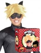 Cat Noir™ Perücke und Maske für Herren Miraculous™ Accessoire blond-schwarz