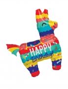 Aluminium-Ballon Lama-Piñata Happy Birthday bunt 73x83cm