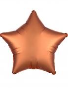 Sternförmiger Aluminiumballon braun 43 cm