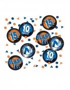 Nerf™-Tischkonfetti Partydeko blau-orange 18,1 g