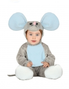 Süsses Maus-Kostüm für Babys grau-blau
