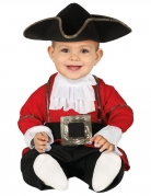 Kleiner Piraten-Kapitän Seeräuber-Kostüm für Kleinkinder rot-schwarz-weiss