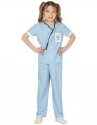 Tierarzt-Kostüm für Kinder Faschingskostüm blau-weiss