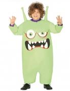 Aufblasbares Alien-Kostüm für Kinder Faschingskostüm grün-weiss-lila