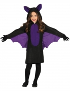Fledermaus-Kostüm für Kinder Halloween schwarz-violett