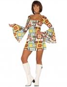 Disoc-Kostüm für Damen 70er-Kostüm bunt