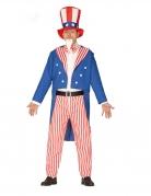 Uncle Sam-Kostüm für Herren blau-weiss-rot
