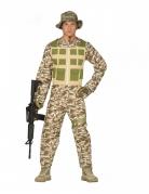 Soldat Militär Herrenkostüm camouflage