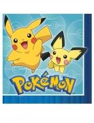 Pokémon-Servietten Tischdekoration 16 Stück bunt 33x33cm