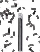 Konfetti-Kanone rechteckig Partydeko grau