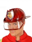 Feuerwehr-Helm für Erwachsene rot