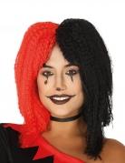 Harlekin-Perücke Zirkus-Perücke für Damen schwarz-rot