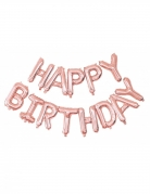 Aluminium-Ballons Hängedeko 13-teilig Happy Birthday roségold