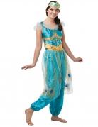 Jasmin-Kostüm für Damen Disney™-Prinzessin türkis-gold