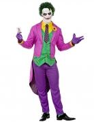 Psychopathen-Clownkostüm für Herren Halloweenkostüm violett-grün