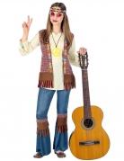 Blumiges Hippie-Kostüm für Mädchen bunt
