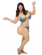 Witziges Bikini-Kostüm Männerballet beige blau