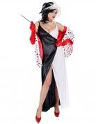 Dämonisches Hundefängerin-Kostüm für Damen Halloween-Kostüm schwarz-weiss