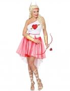 Amor-Kostüm für Damen Liebesengel-Kostüm Valentinstag rot-weiss