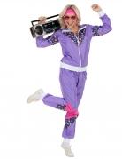 80er-Trainingsanzug Bad Taste 2-teilig lila-bunt