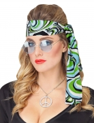 70er-Haarband Disco-Haarband blau-grün-schwarz