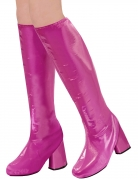 Retro-Stiefel 60er Jahre Kniestiefel für Damen pink