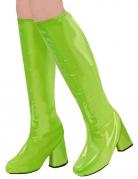 Kniestiefel für Damen 60er oder 70er Jahre Motto Party grün
