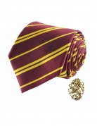 Gryffindor-Krawatte Harry Potter™-Accessoire mit Pin rot-gelb