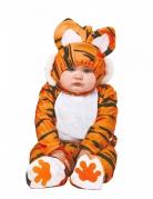 Tiger-Kostüm für Babys Faschingskostüm orange-schwarz-weiss