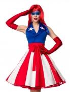 Miss America-Damenkostüm Faschingskostüm Deluxe rot-blau-weiss