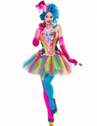 Lady Candy Clownskostüm für Damen bunt