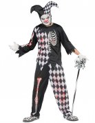 Blutiges Harlekin-Kostüm Halloweenkostüm für Herren schwarz-weiss