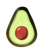 Pappteller Avocado 8 Stück grün 25 cm