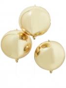 Aluminiumballon Raumdekoration gold 55 cm Durchmesser