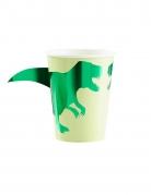 Pappbecher-Set Dinosaurier 8 Stück grün 266ml