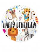 Zootiere-Luftballon Partydeko bunt 45 cm