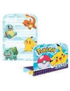 Pokémon-Einladungskarten mit Umschlägen Deko 8 Stück bunt