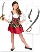 Piraten Kostüm-Set für Mädchen 6-teilig