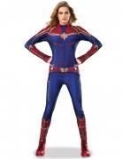 Captain Marvel™ Damenkostüm blau-rot-gold