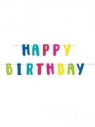 Geburtstagsgirlande mit Happy Birthday Schriftzug bunt 1,8 m