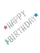 Geburtstags-Girlande Meerjungfrau Happy Birthday Dekoration bunt 2,6m