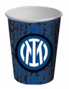 Inter Mailand™-Pappbecher Trinkbecher Tischdeko 8 Stück schwarz-blau-weiss 266 ml