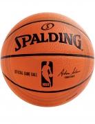 NBA Spalding™-Pappteller 18 Stück orange-schwarz 23 cm