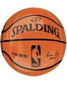 Basketball-Luftballon NBA Spalding™ Dekoration orange-schwarz 38x40 cm