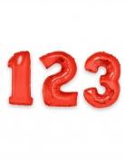 Zahlen-Luftballon Ziffern-Ballon für Geburtstage rot 1 m