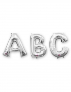 Buchstaben-Luftballon Folienballon silber 86 cm