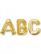 Buchstaben-Luftballon Folienballon gold 86 cm