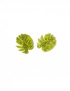 Palmenblatt-Konfetti aus Holz Sommerparty-Deko 10 Stück grün 4 cm