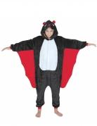 Fledermaus-Kostüm für Kinder Halloweenkostüm schwarz-rot-weiss